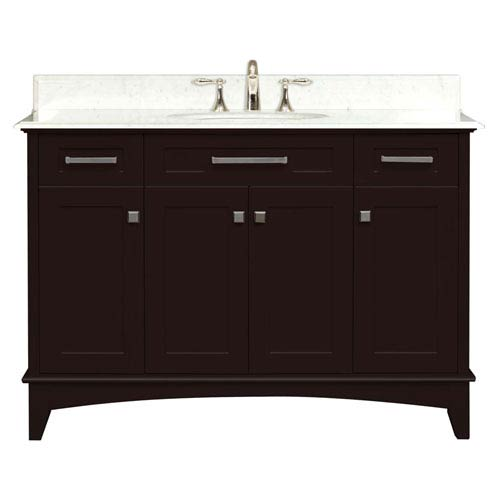 Water Creation Manhattan Espresso Single Sink 48 Inch Bathroom Vanity