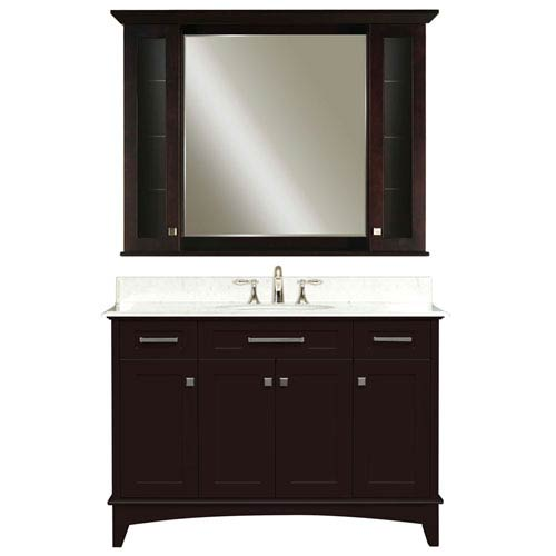 Water Creation Manhattan Espresso Single Sink 48 Inch Bathroom Vanity Combo