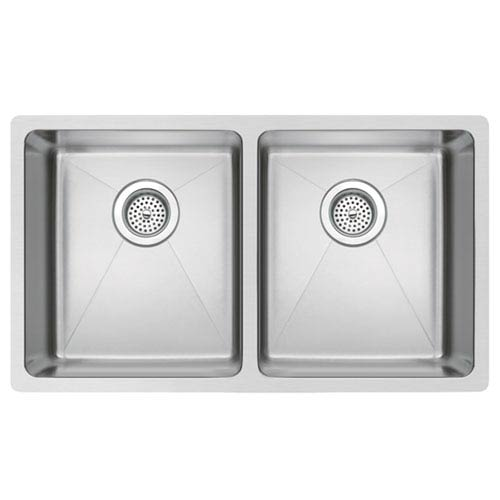 Stainless Steel Premium Brushed Satin 30- Inch Undermount Double 50/50 Basin Kitchen Sink