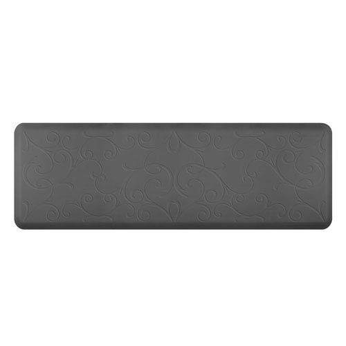 WellnessMats Motif Bella Grey 6x2 Premium Anti-Fatigue Mat