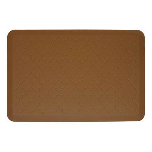 WellnessMats Motif Trellis Tan 3x2 Premium Anti-Fatigue Mat