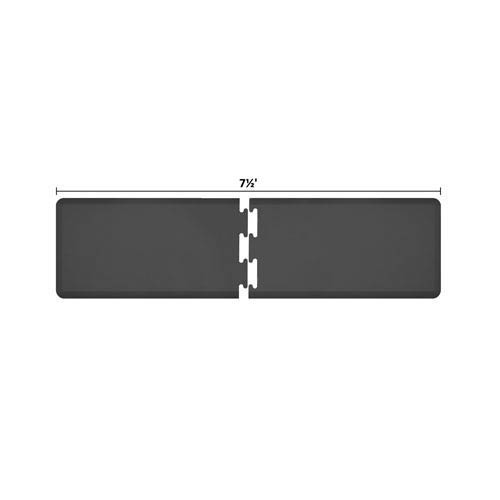 WellnessMats PuzzlePiece 2-Ft. R-Series Black 7.5 Premium Anti-Fatigue Mat