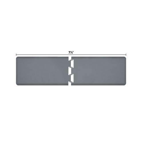 WellnessMats PuzzlePiece 2-Ft. R-Series Grey 7.5 Premium Anti-Fatigue Mat