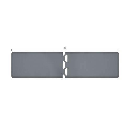 WellnessMats PuzzlePiece 2-Ft. R-Series Grey 8 Premium Anti-Fatigue Mat