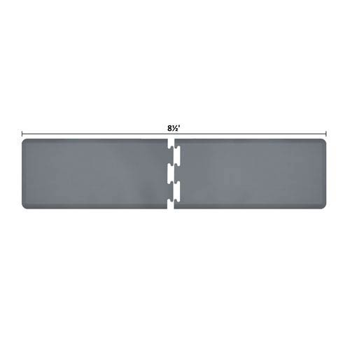 WellnessMats PuzzlePiece 2-Ft. R-Series Grey 8.5 Premium Anti-Fatigue Mat