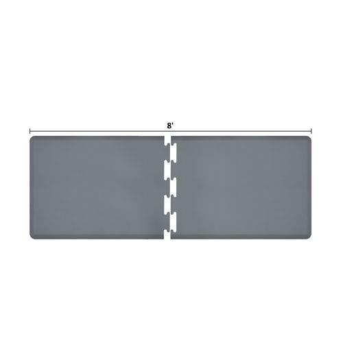 WellnessMats PuzzlePiece 3-Ft. R-Series Grey 8 Premium Anti-Fatigue Mat