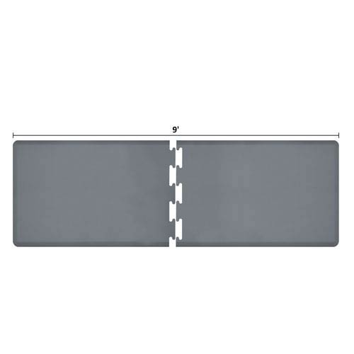 WellnessMats PuzzlePiece 3-Ft. R-Series Grey 9 Premium Anti-Fatigue Mat