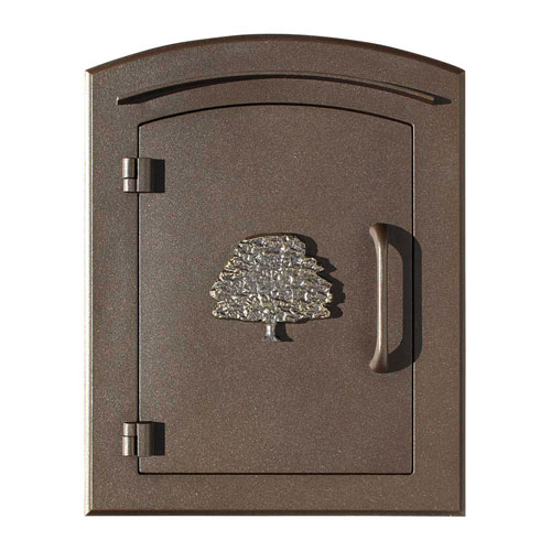 Manchester Security Drop Chute Mailbox with Decorative Oak Tree Logo