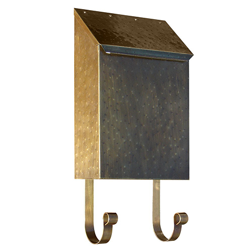 Provincial Antique Brass 8-Inch Wall Mount Mailbox