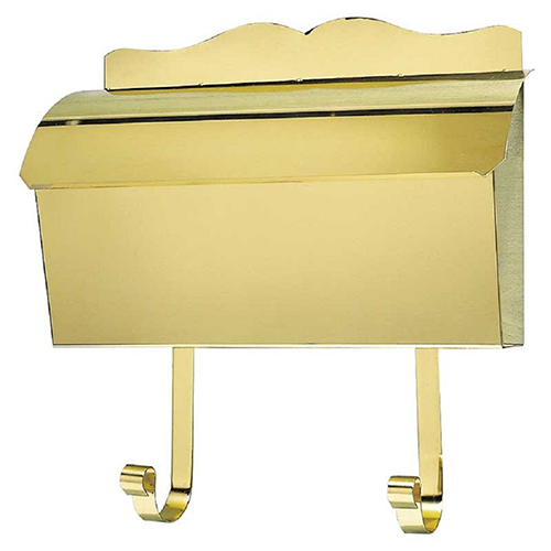 Provincial Polished Brass Wall Mount Mailbox