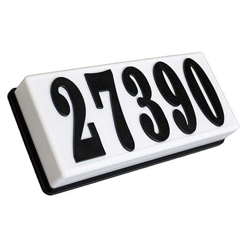 Serrano Black 10-Inch Lighted Address Plaque