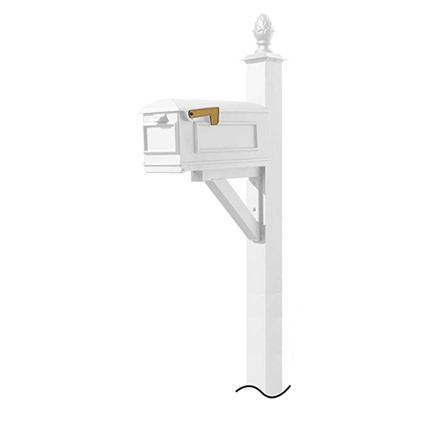 Westhaven White Mounted Mailbox Post
