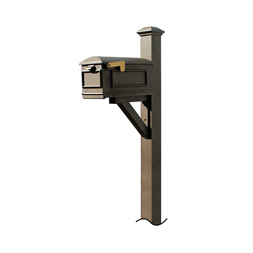 Westhaven Bronze 56-Inch Mounted Mailbox Post
