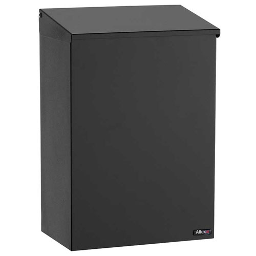 Allux 100 Black Top Loading Wall Mount Mailbox