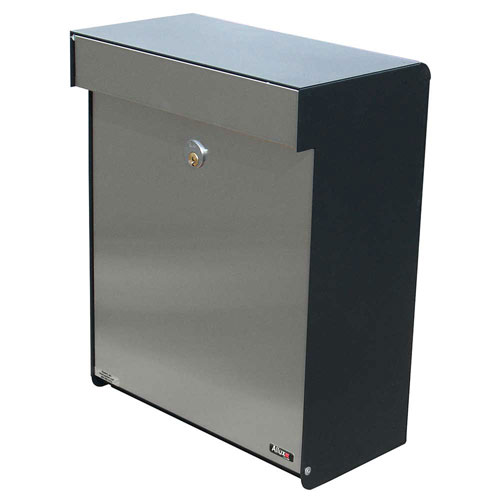 Allux Series Black and Stainless Steel Mailboxes Grandform