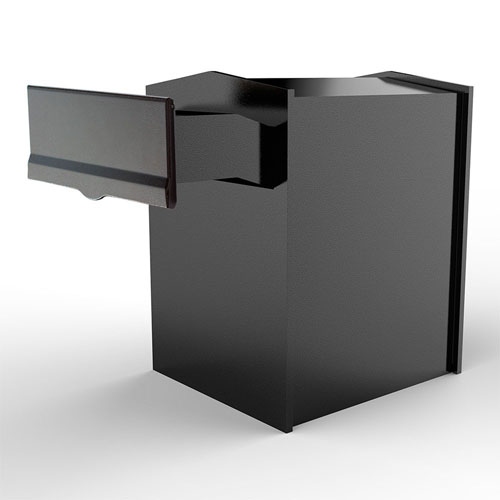 Letta safe Black 11-Inch Wall or Column Mount Mailbox with Drop Chute and Letterplate
