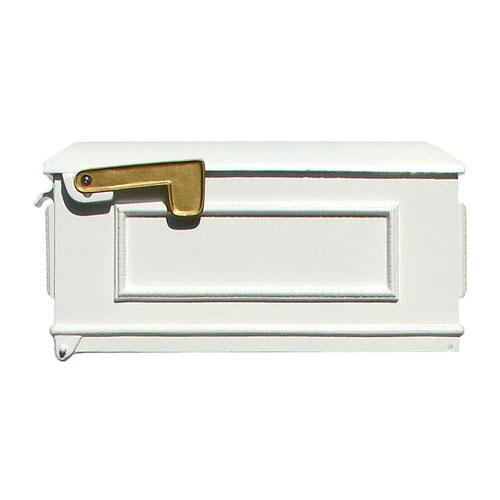 Lewiston White Mailbox