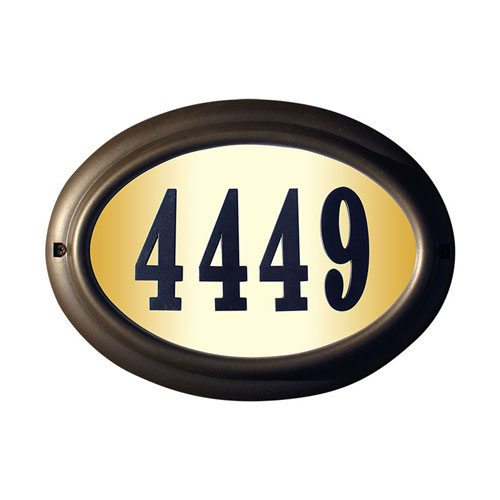 QualArc Edgewood Oil Rub Bronze Oval Do It Yourself Kit Lighted Address Plaque