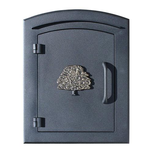 Manchester Black Non-Locking Decorative Oak Tree Logo Door Column Mount Mailbox