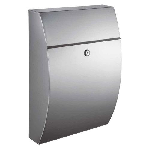 Glacial Locking Mailbox Stainless Steel