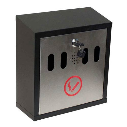 Hayward Wall Mount Cigarette Ash Receptacle, Black