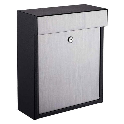 Woodlake Locking Mailbox Black/Stainless Steel