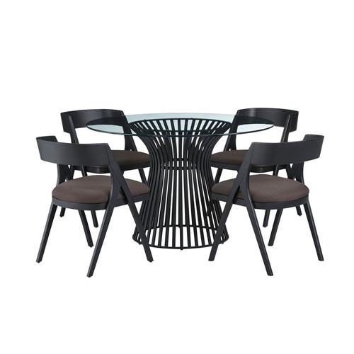 Black Round Dining Set