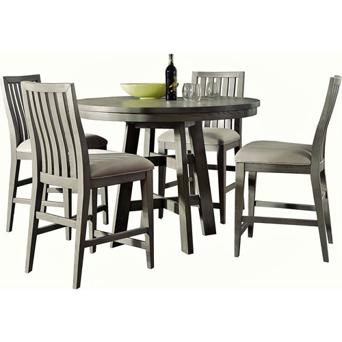 Venice Grey Five Piece Dining Set with Four Chairs