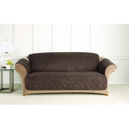 Sure Fit Chocolate Quilted Sofa Pet Throw