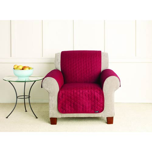 Sure Fit Claret Cotton Duck Chair Pet Throw