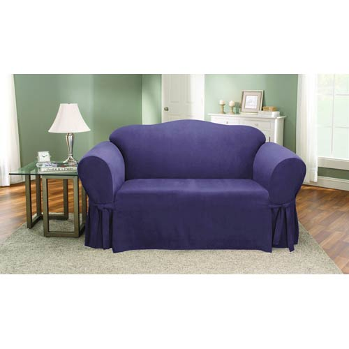 Sure Fit Plum Soft Suede Loveseat Slipcover