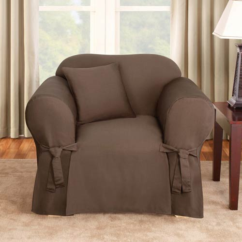 Sure Fit Chocolate Logan Chair Slipcover