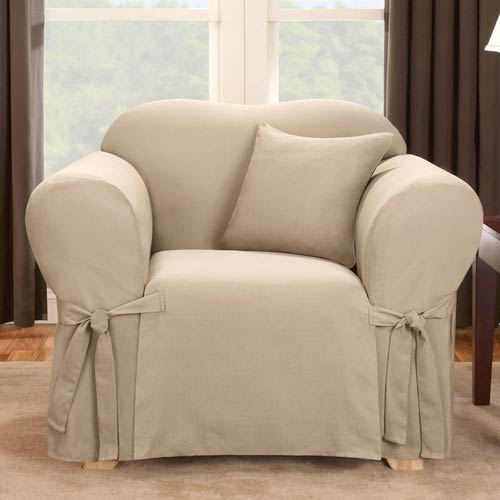 Sure Fit Sand Logan Chair Slipcover