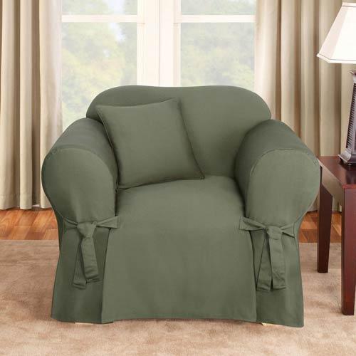 Sure Fit Dark Green Logan Chair Slipcover