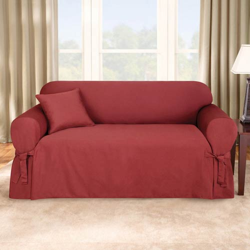 Sure Fit Paprika Logan Sofa Slipcover