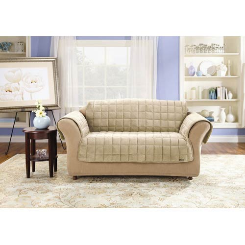 Sure Fit Ivory Deluxe Loveseat Pet Throw Cover
