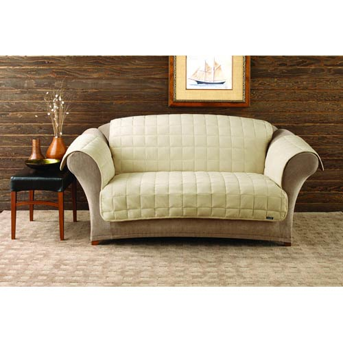 Ivory Deluxe Sofa Pet Throw Cover