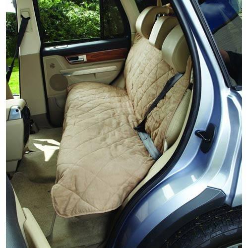 Taupe Medium Soft Suede and Sherpa Reversible Auto Bench Seat