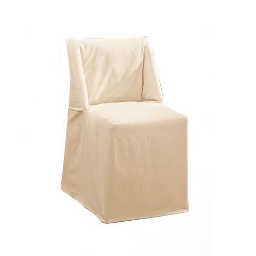 Sure Fit Natural Cotton Duck Folding Dining Chair Slipcover