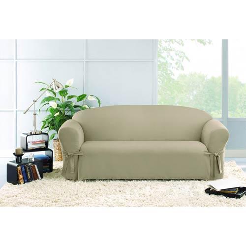 Sure Fit Linen Cotton Duck Sofa Slipcover 47293266669 Bellacor