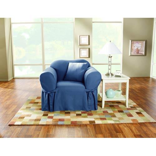 Sure Fit Bluestone Cotton Duck Chair Slipcover
