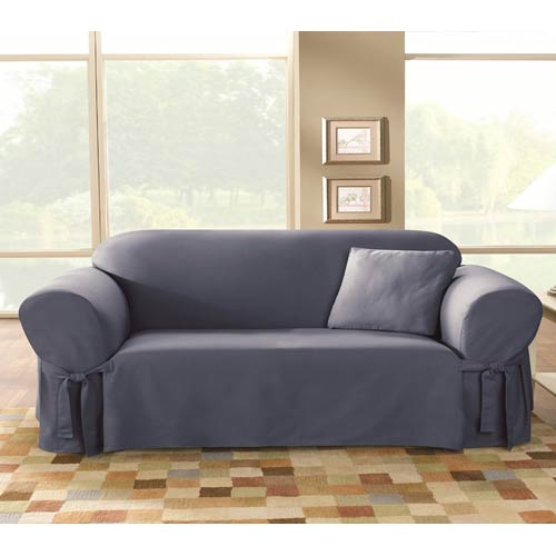 Bluestone Cotton Duck Sofa Slipcover