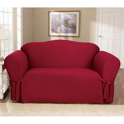 Sure Fit Claret Cotton Duck Chair Slipcover