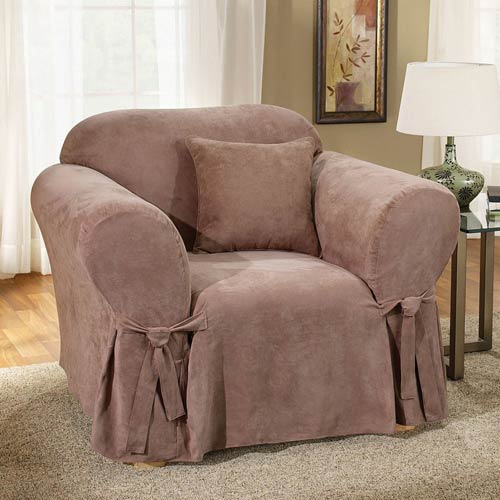 Sure Fit Sable Soft Suede Chair Slipcover