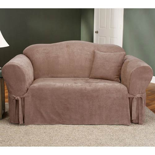 Sure Fit Sable Soft Suede Loveseat Slipcover