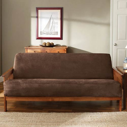 Chocolate Soft Suede Futon Slipcover
