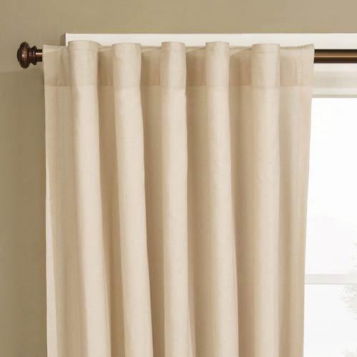 Sure Fit Natural Cotton Rod Pocket Drape Window Treatment