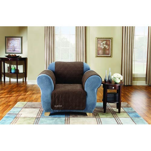 Sure Fit Chocolate Quilted Chair Pet Throw