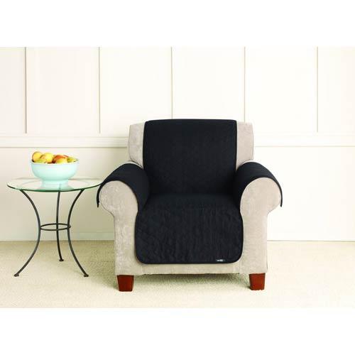 Sure Fit Black Cotton Duck Chair Pet Cover