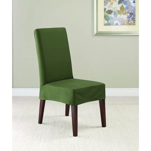Sure Fit Loden Twill Supreme Short Dining Room Chair Slipcover